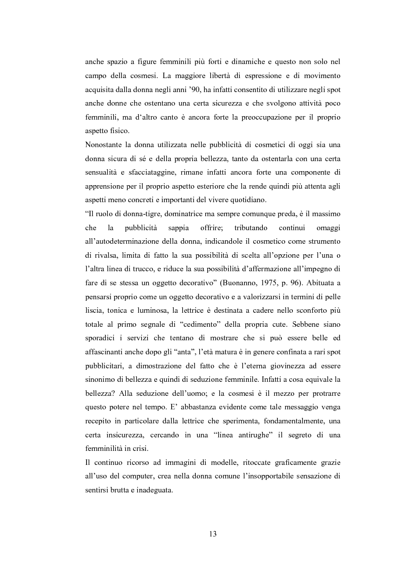 Anteprima della tesi: La rappresentazione della donna nella pubblicità dei cosmetici. Una ricerca di analisi del contenuto., Pagina 10
