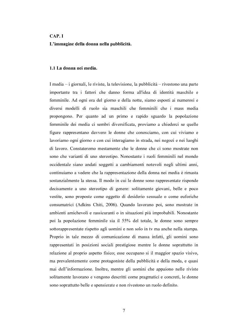 Anteprima della tesi: La rappresentazione della donna nella pubblicità dei cosmetici. Una ricerca di analisi del contenuto., Pagina 4