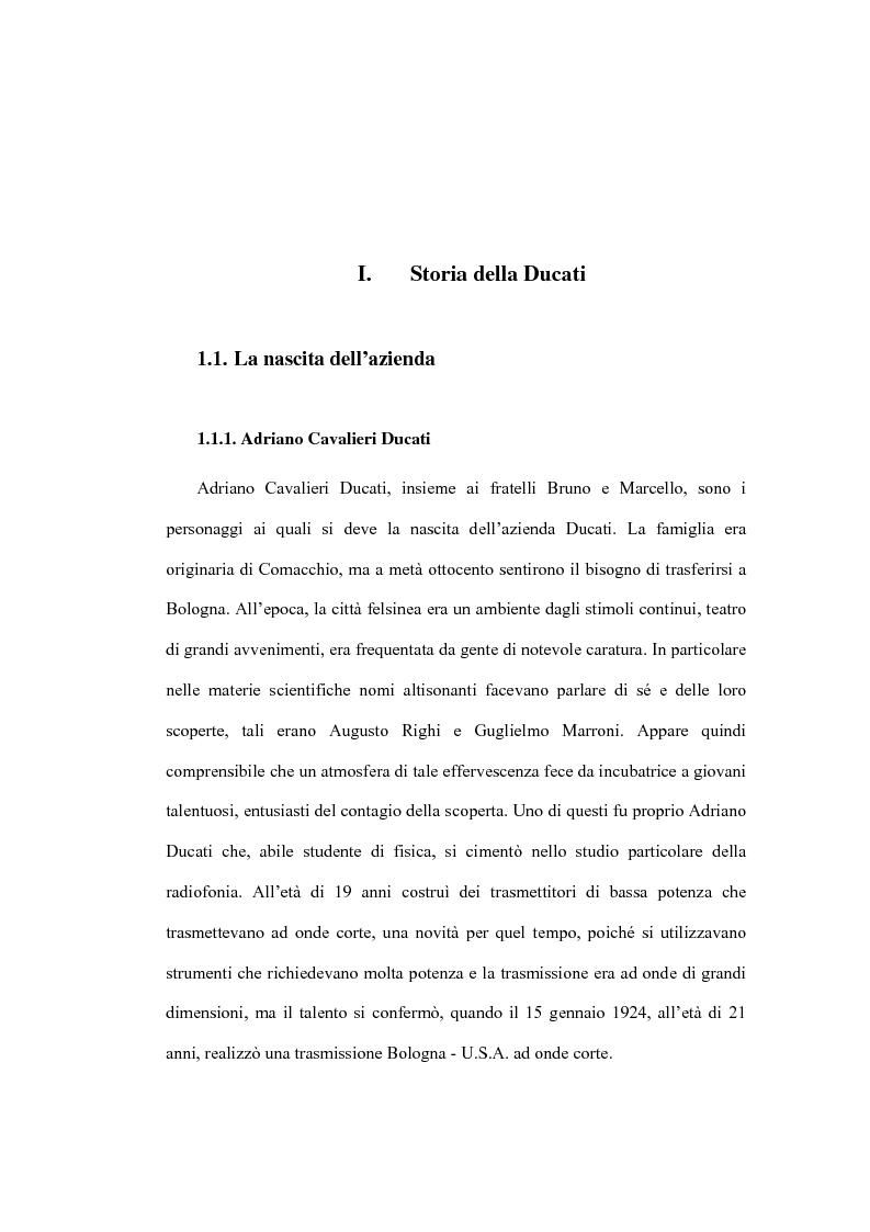 Anteprima della tesi: Il Marketing Tribale in Ducati Motor Holding SpA, Pagina 1