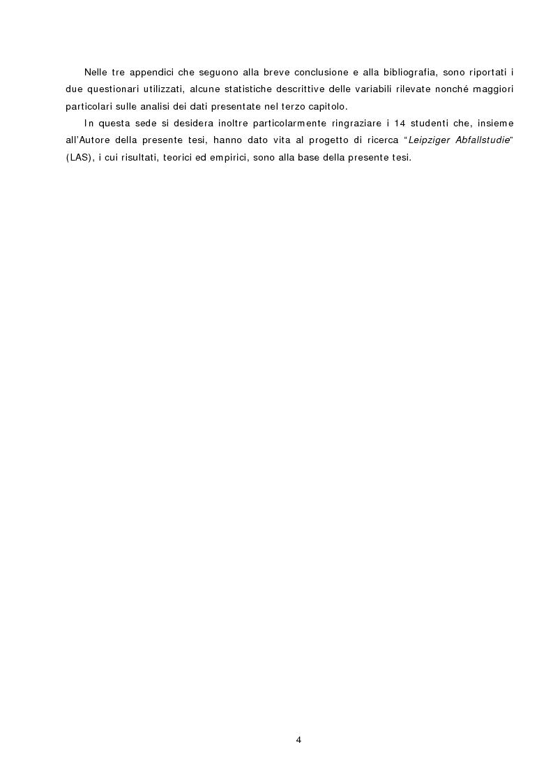 Anteprima della tesi: L'azione sociale ambientalmente corretta: il caso della separazione dei rifiuti a Lipsia ed a Trento, Pagina 2