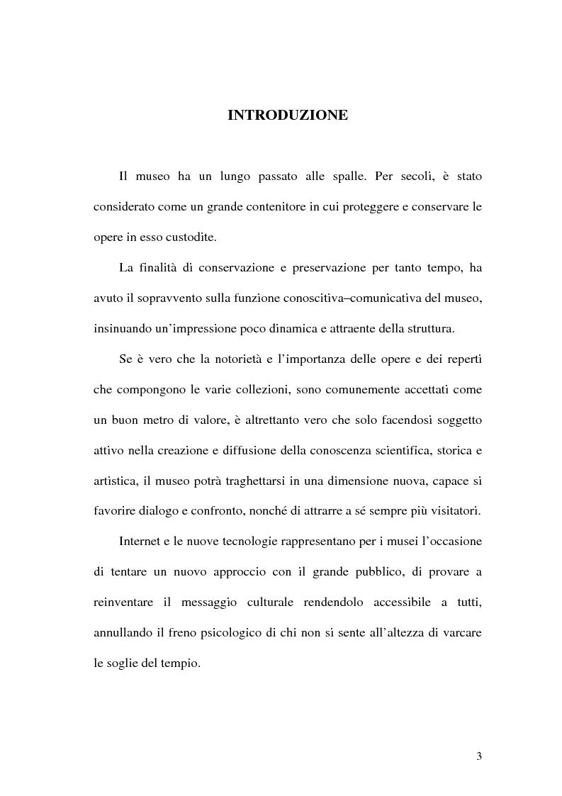 Anteprima della tesi: La rete dei musei virtuali come strumento di sviluppo locale: il caso di Benevento, Pagina 1