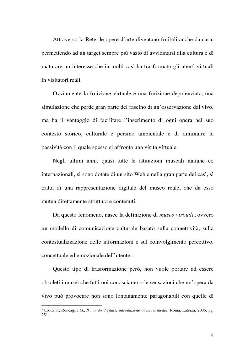 Anteprima della tesi: La rete dei musei virtuali come strumento di sviluppo locale: il caso di Benevento, Pagina 2