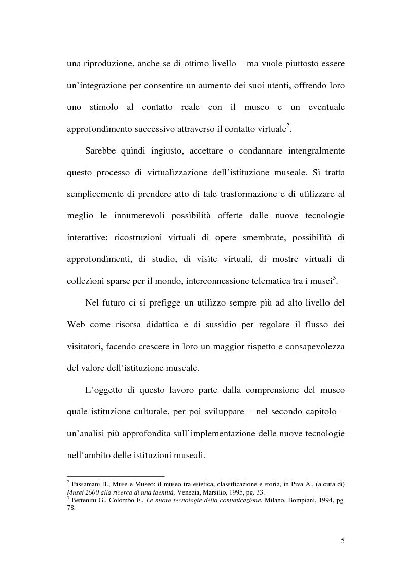 Anteprima della tesi: La rete dei musei virtuali come strumento di sviluppo locale: il caso di Benevento, Pagina 3