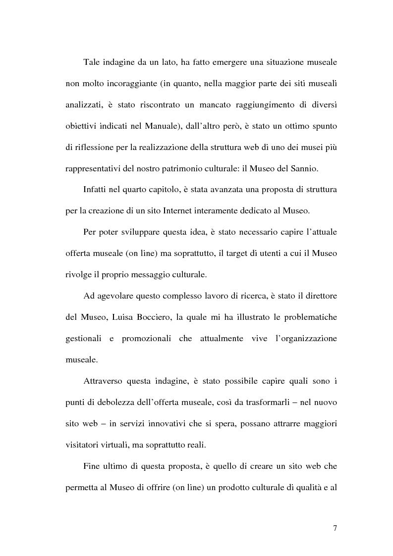 Anteprima della tesi: La rete dei musei virtuali come strumento di sviluppo locale: il caso di Benevento, Pagina 5
