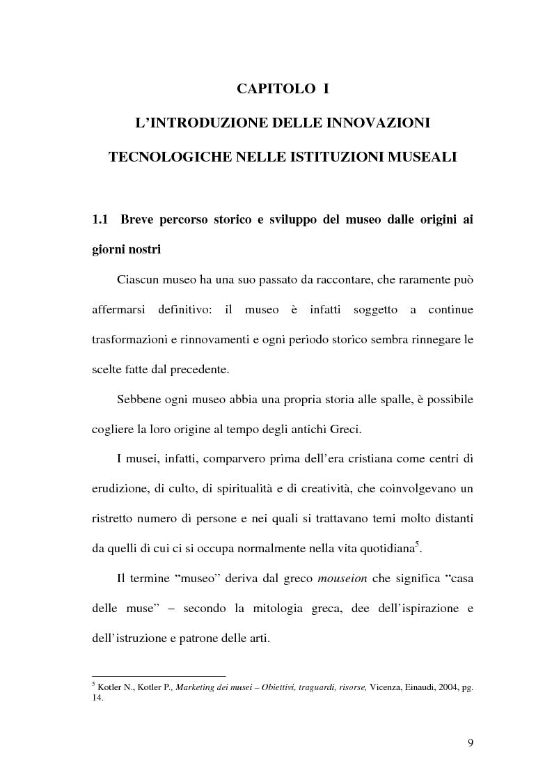 Anteprima della tesi: La rete dei musei virtuali come strumento di sviluppo locale: il caso di Benevento, Pagina 7