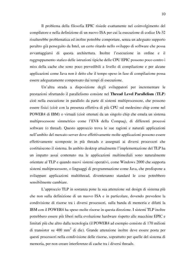Anteprima della tesi: Analisi delle architetture di microprocessori commerciali, Pagina 11