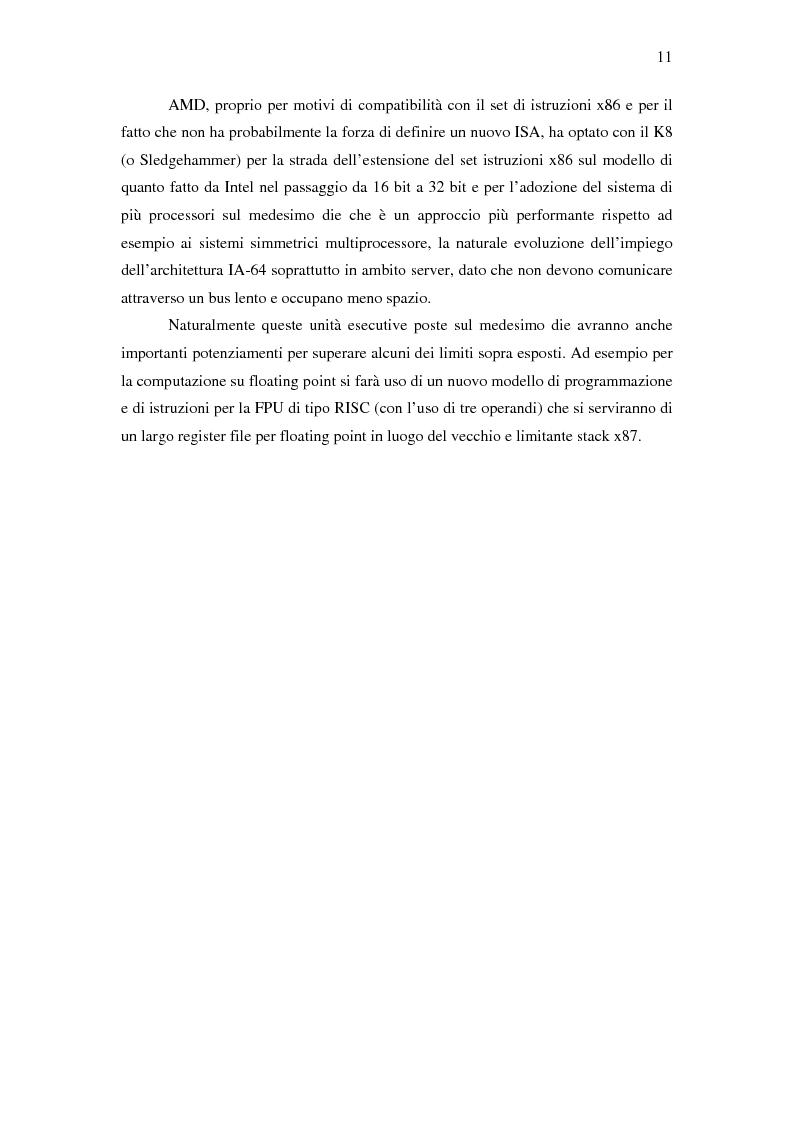 Anteprima della tesi: Analisi delle architetture di microprocessori commerciali, Pagina 12