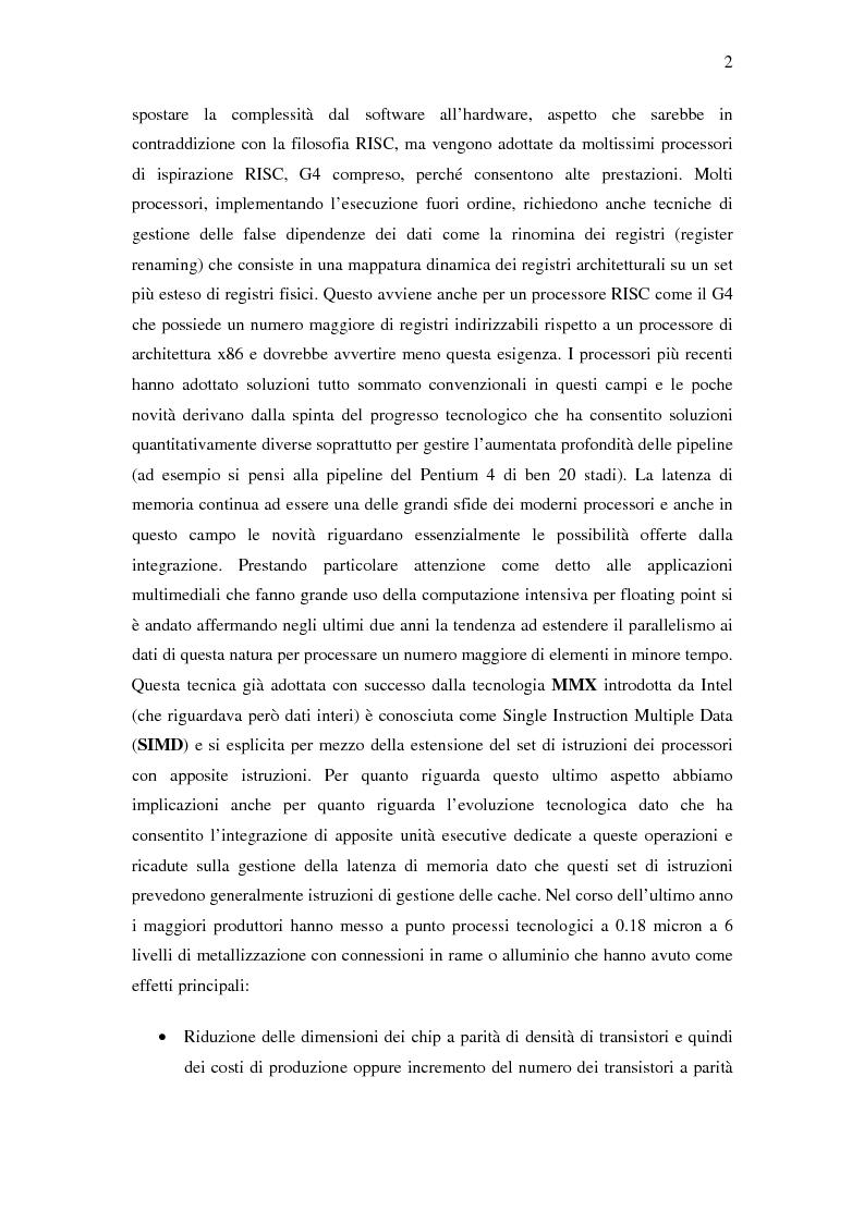 Anteprima della tesi: Analisi delle architetture di microprocessori commerciali, Pagina 3