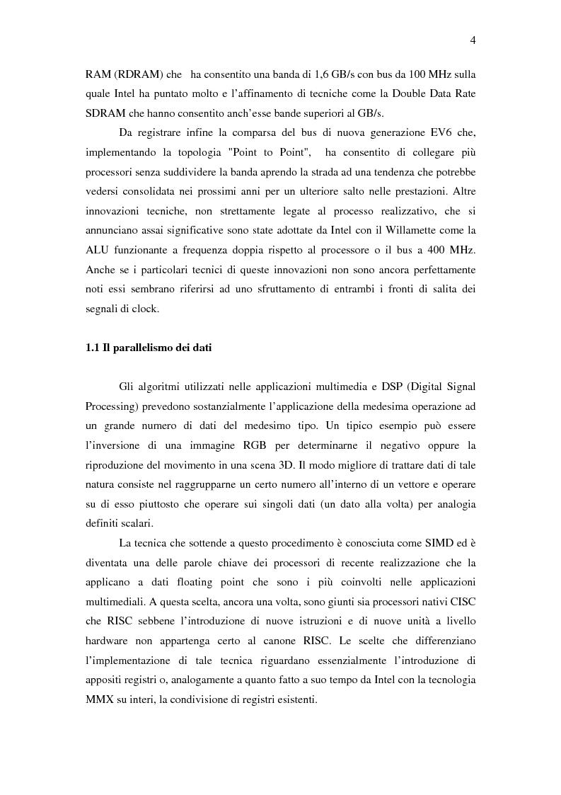 Anteprima della tesi: Analisi delle architetture di microprocessori commerciali, Pagina 5