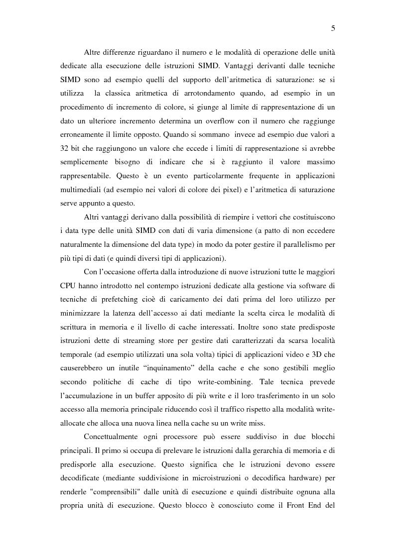 Anteprima della tesi: Analisi delle architetture di microprocessori commerciali, Pagina 6