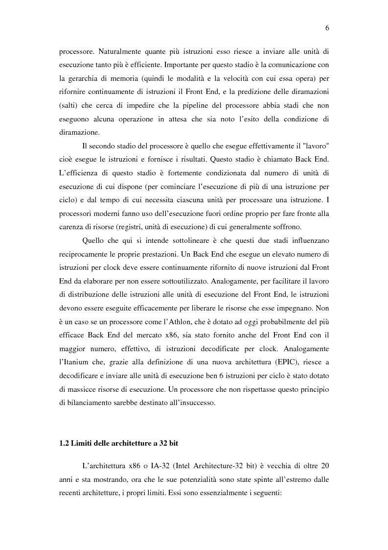 Anteprima della tesi: Analisi delle architetture di microprocessori commerciali, Pagina 7