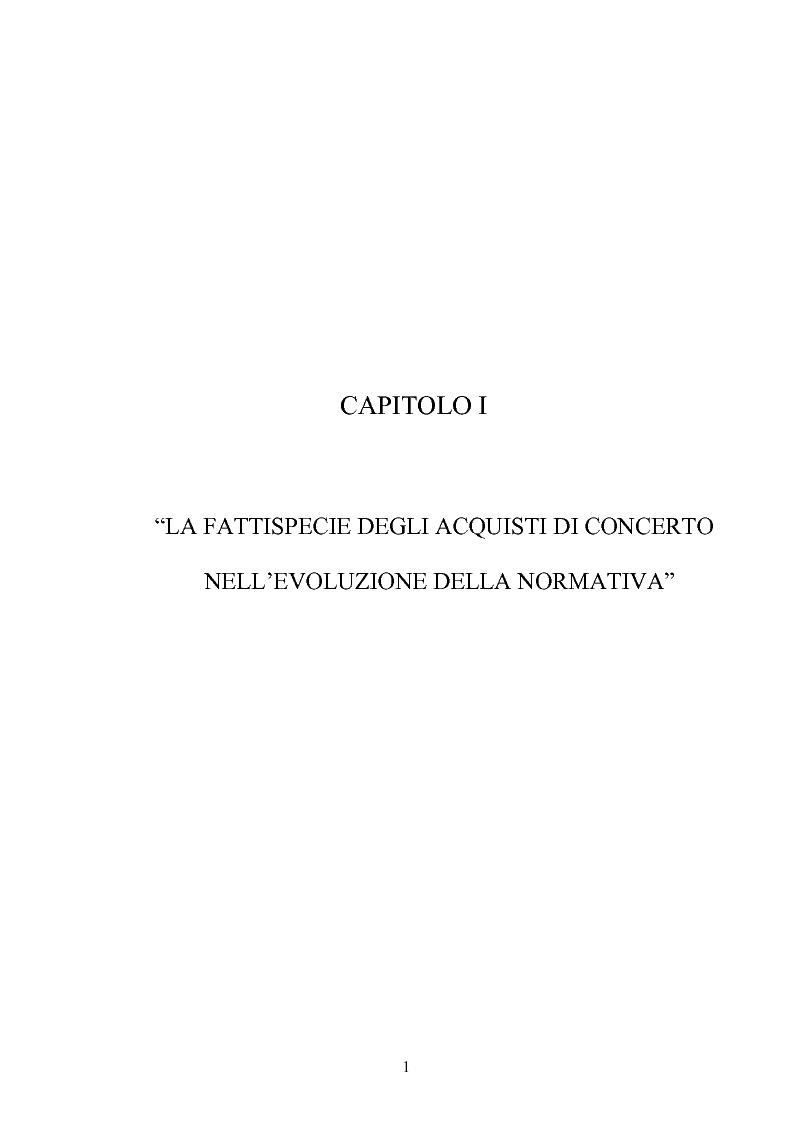 Anteprima della tesi: L'Opa di concerto, Pagina 1