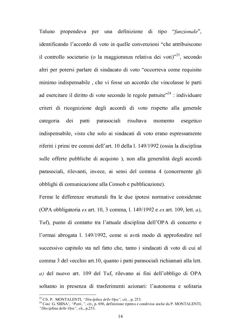 Anteprima della tesi: L'Opa di concerto, Pagina 14