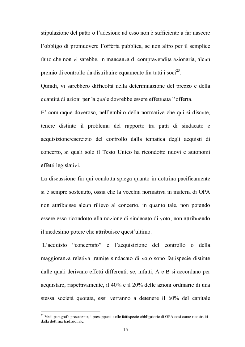 Anteprima della tesi: L'Opa di concerto, Pagina 15