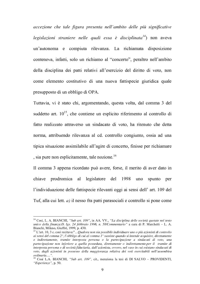 Anteprima della tesi: L'Opa di concerto, Pagina 9