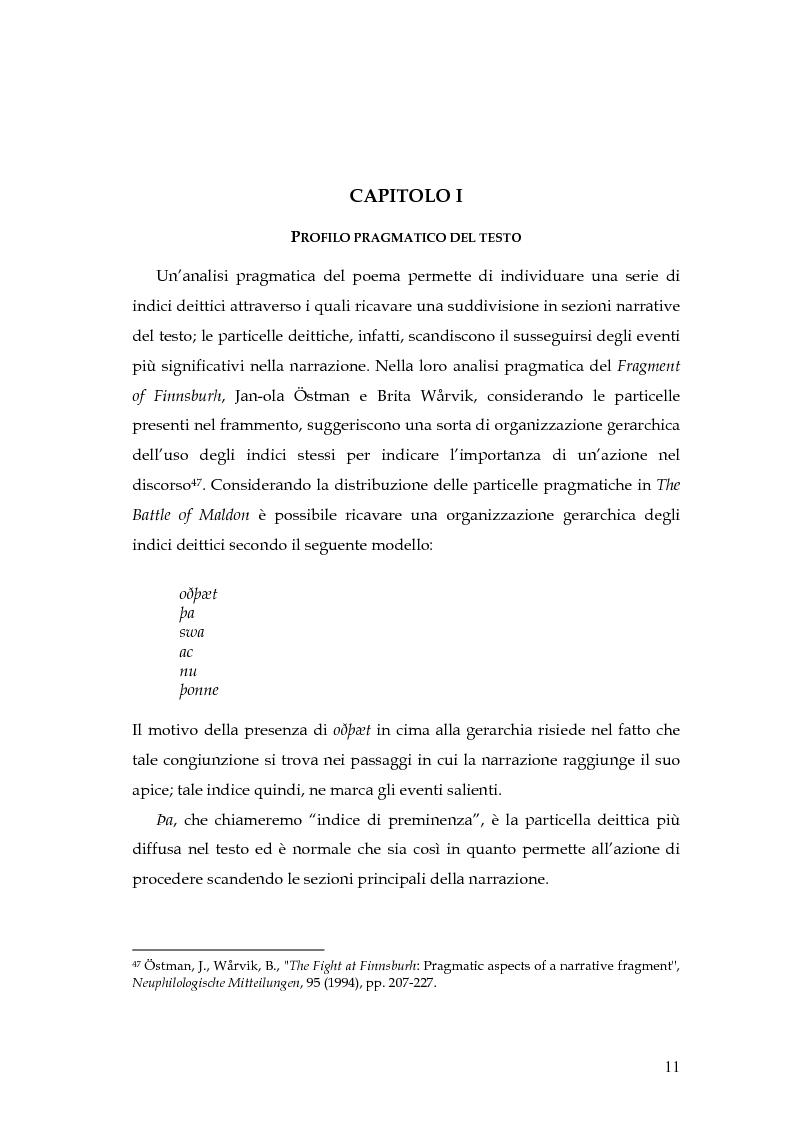 Anteprima della tesi: The Battle of Maldon: un'indagine retorica, Pagina 11