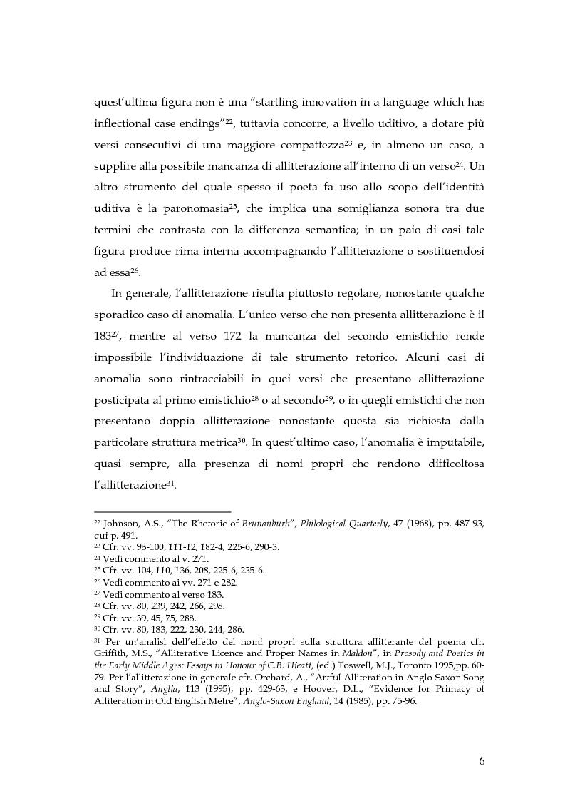 Anteprima della tesi: The Battle of Maldon: un'indagine retorica, Pagina 6