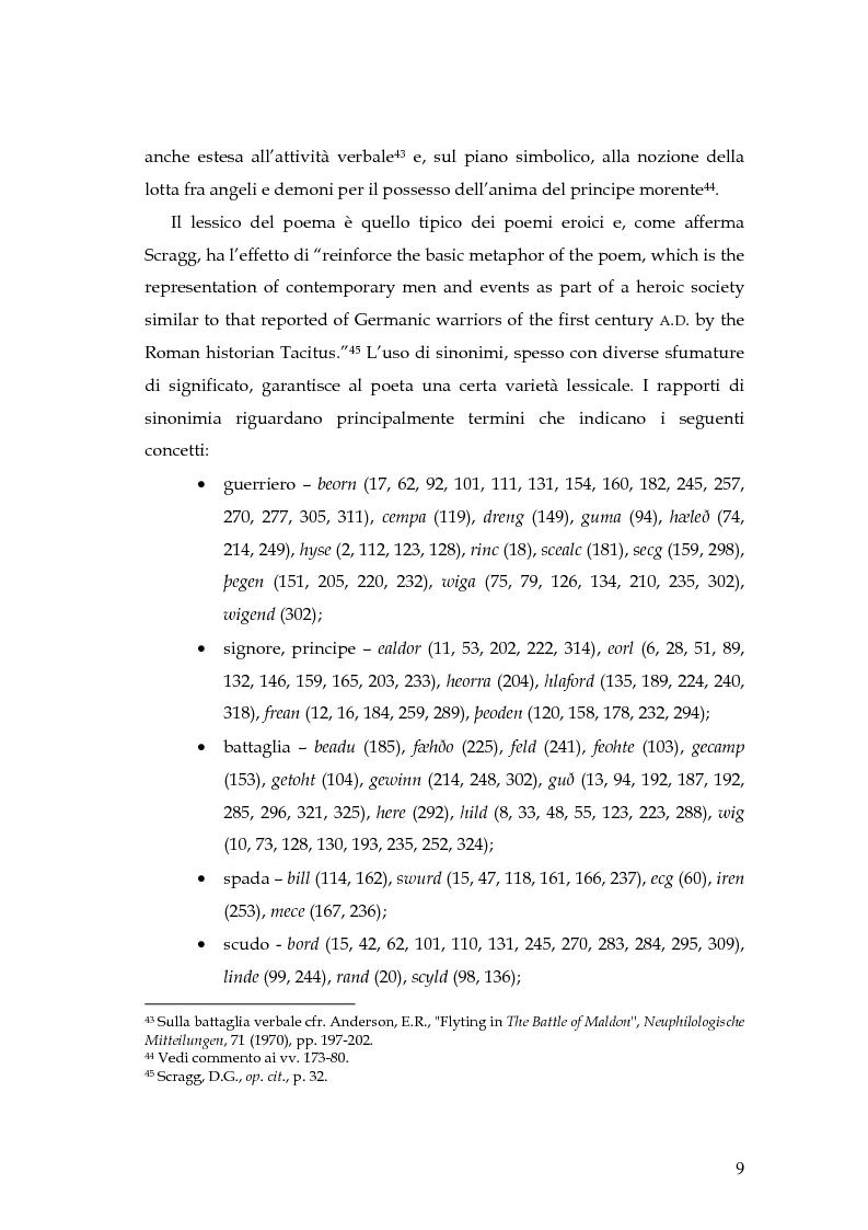 Anteprima della tesi: The Battle of Maldon: un'indagine retorica, Pagina 9