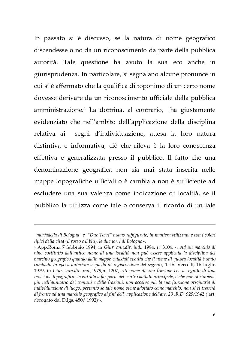 Anteprima della tesi: Il marchio geografico, Pagina 2