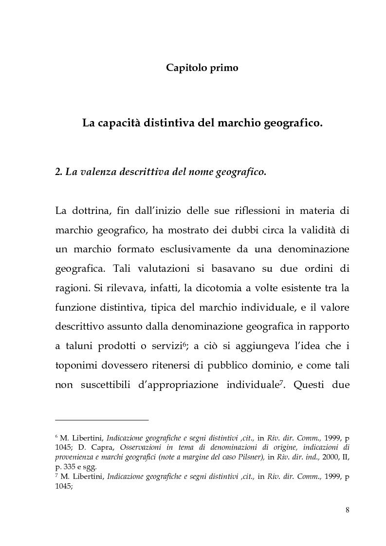 Anteprima della tesi: Il marchio geografico, Pagina 4