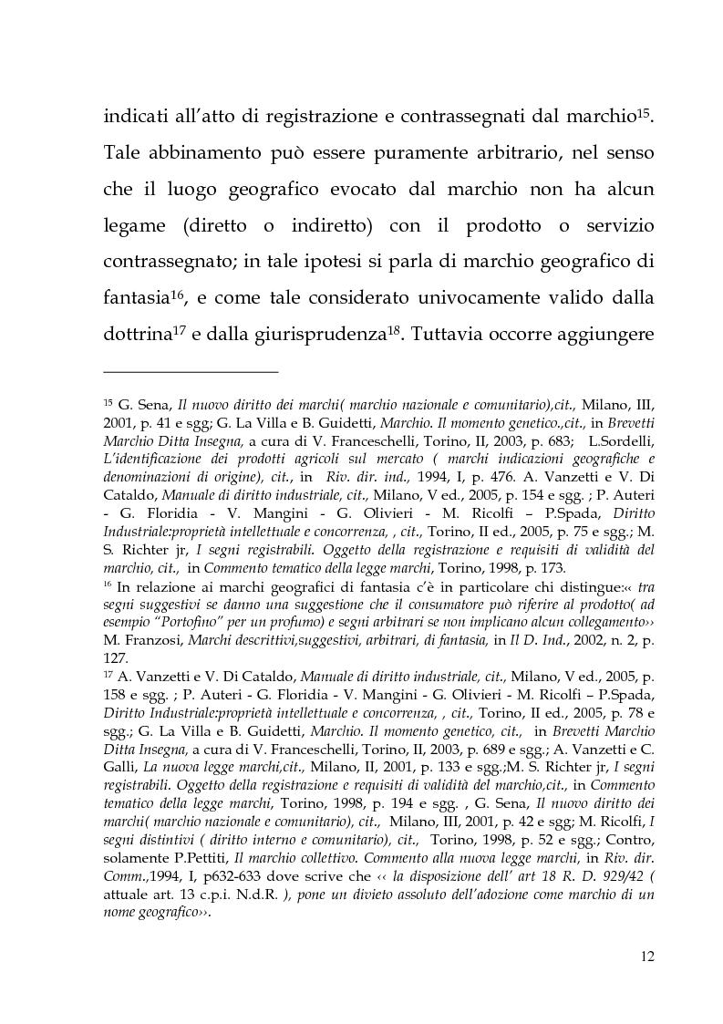 Anteprima della tesi: Il marchio geografico, Pagina 8