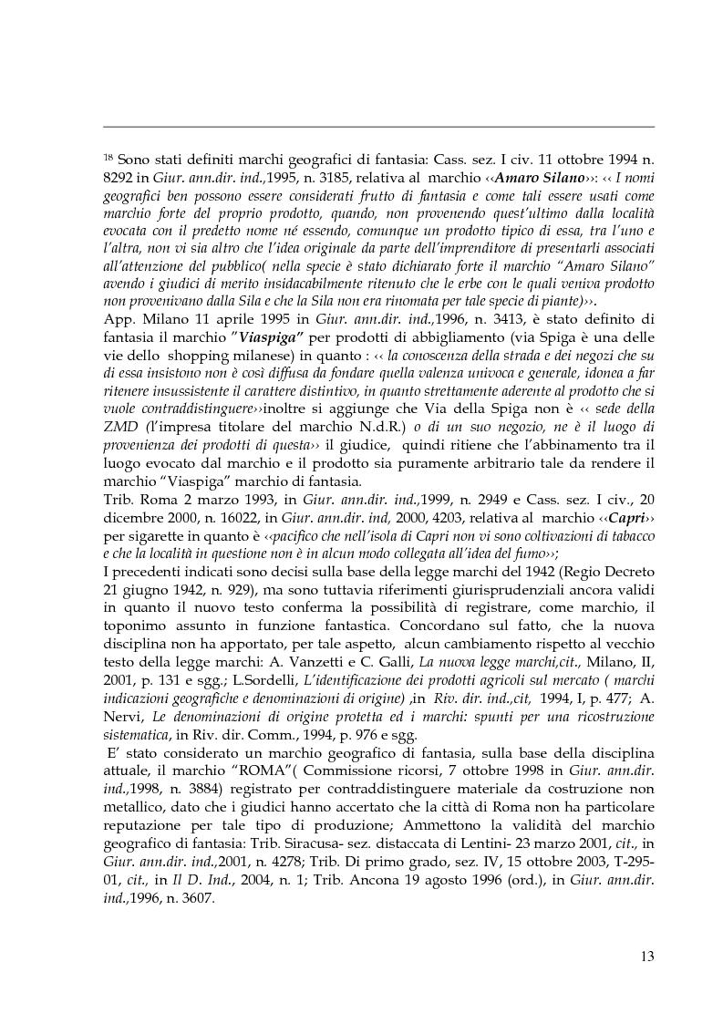 Anteprima della tesi: Il marchio geografico, Pagina 9