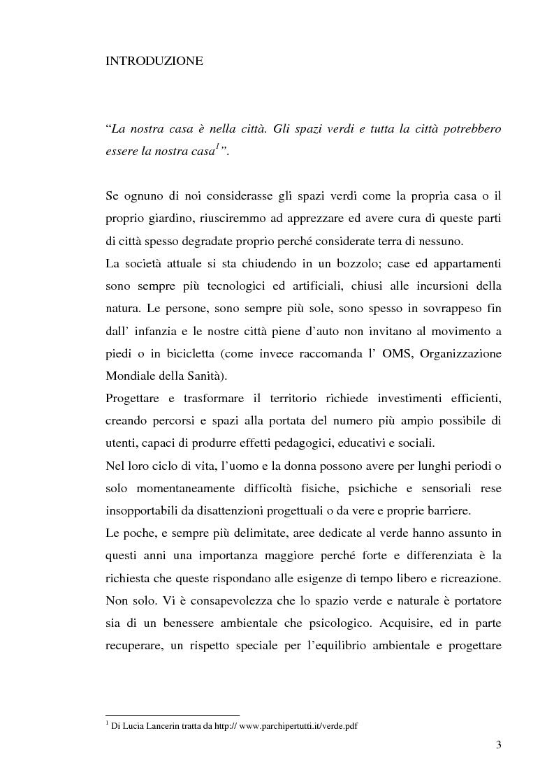 Anteprima della tesi: Strutture turistiche accessibili: l'Orto Botanico del comune di Roma, Pagina 1