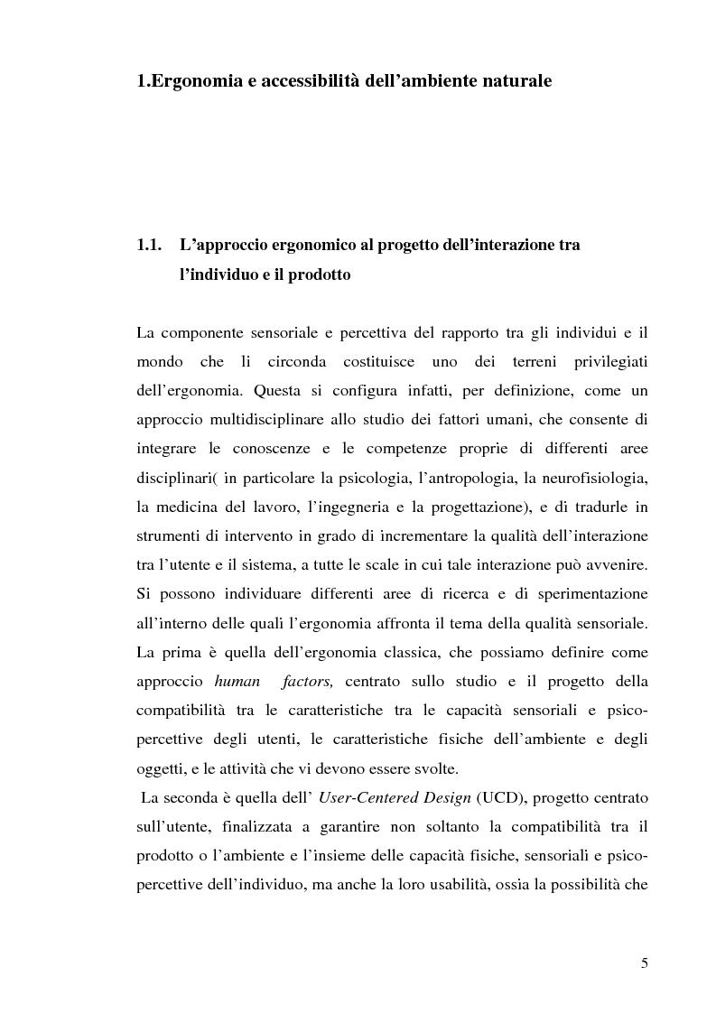 Anteprima della tesi: Strutture turistiche accessibili: l'Orto Botanico del comune di Roma, Pagina 3