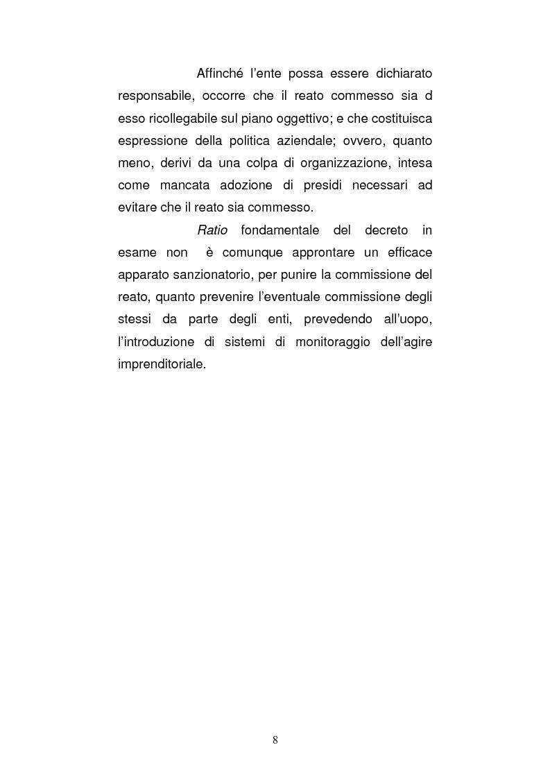 Anteprima della tesi: Le strutture organizzative di cui alla L. 231/2001: un'analisi comparativa, Pagina 3