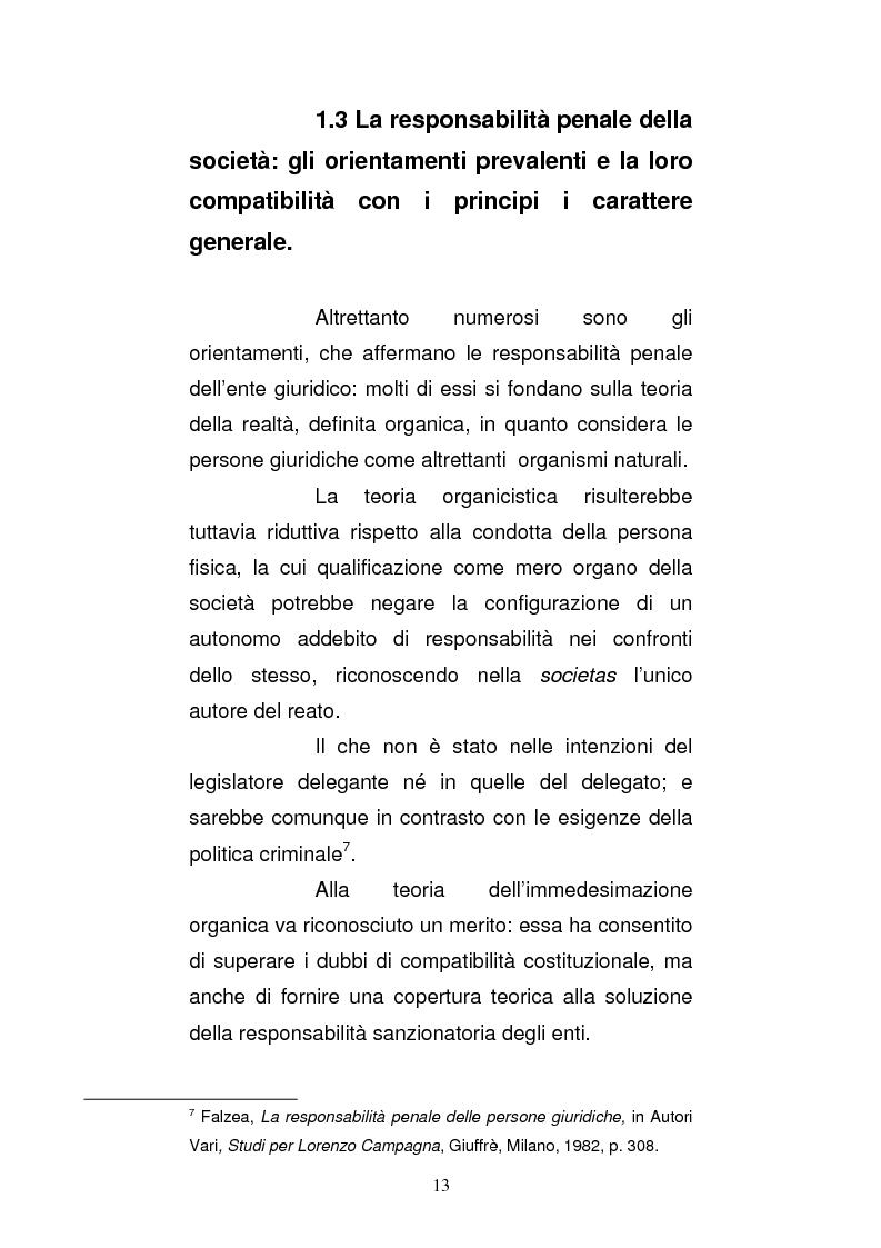 Anteprima della tesi: Le strutture organizzative di cui alla L. 231/2001: un'analisi comparativa, Pagina 8