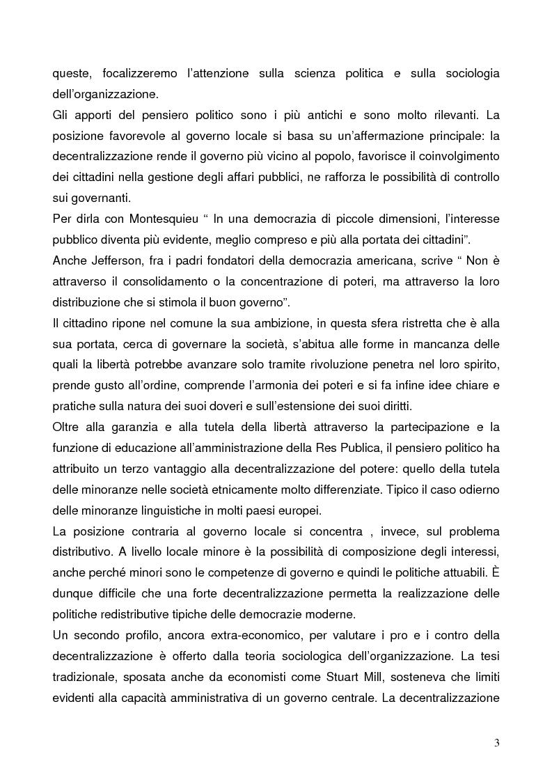 Anteprima della tesi: Il federalismo fiscale: l'Italia e l'Europa, Pagina 3