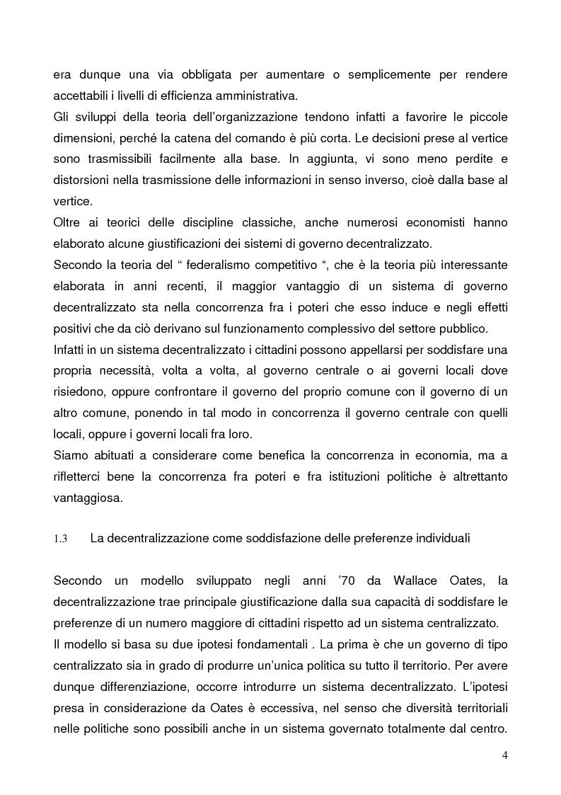 Anteprima della tesi: Il federalismo fiscale: l'Italia e l'Europa, Pagina 4