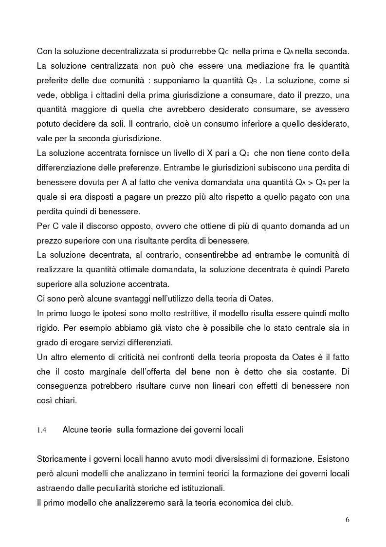 Anteprima della tesi: Il federalismo fiscale: l'Italia e l'Europa, Pagina 6