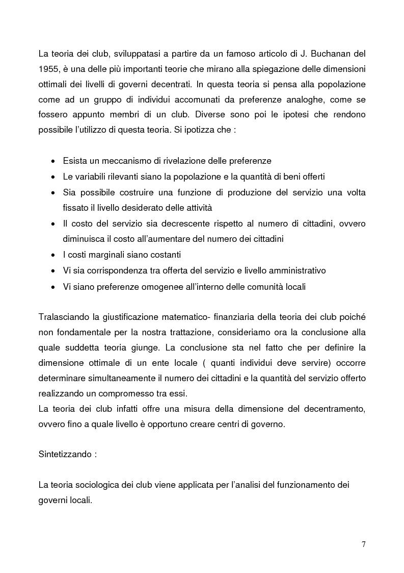 Anteprima della tesi: Il federalismo fiscale: l'Italia e l'Europa, Pagina 7