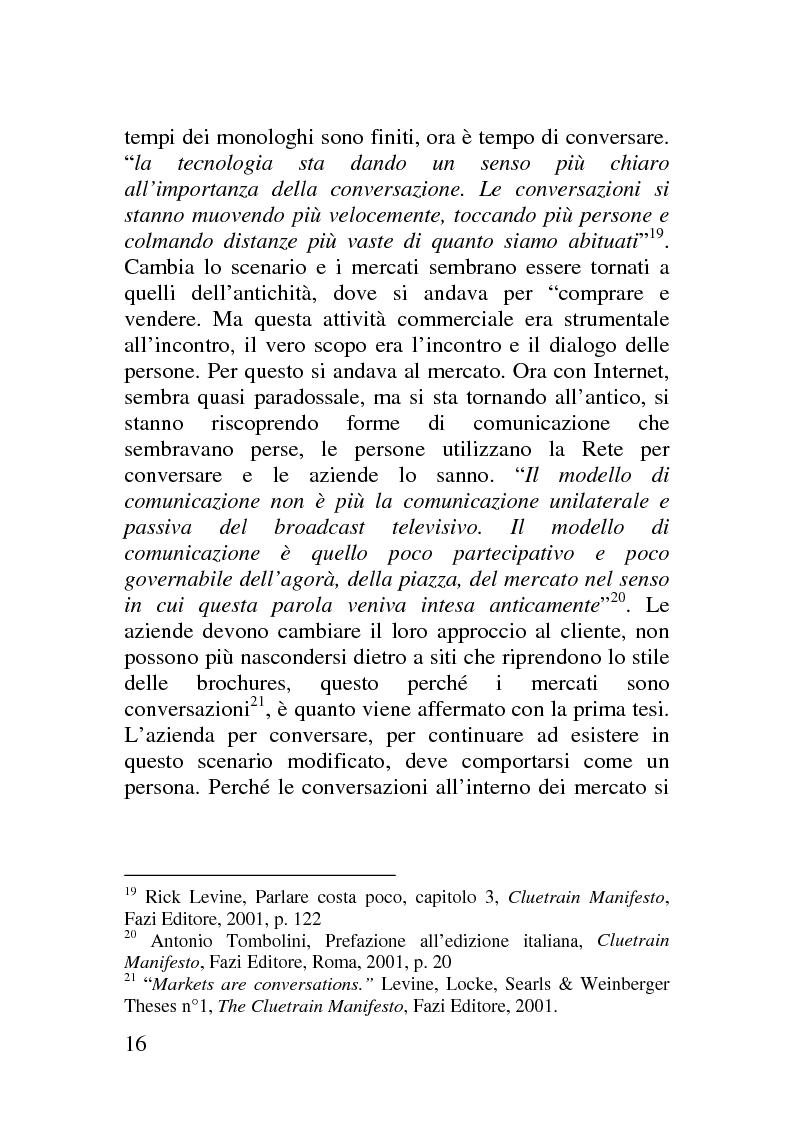 Anteprima della tesi: Il corporate blog - L'utilizzo del blog nella relazione con il cliente, Pagina 11