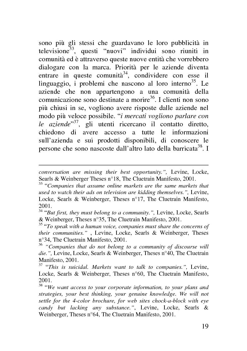 Anteprima della tesi: Il corporate blog - L'utilizzo del blog nella relazione con il cliente, Pagina 14