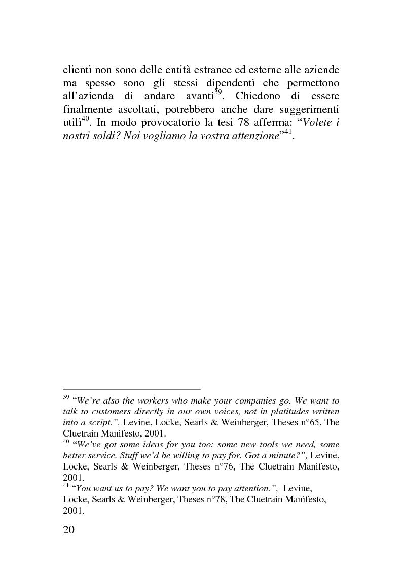 Anteprima della tesi: Il corporate blog - L'utilizzo del blog nella relazione con il cliente, Pagina 15