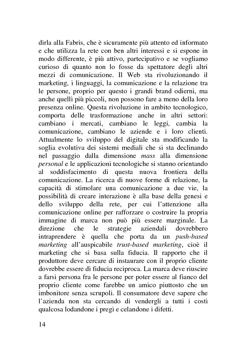 Anteprima della tesi: Il corporate blog - L'utilizzo del blog nella relazione con il cliente, Pagina 9