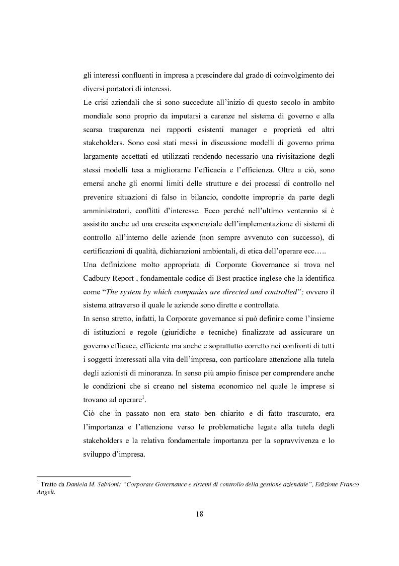Anteprima della tesi: La comunicazione sulla Corporate Governance: analisi delle relazioni dei principali istituti di credito, Pagina 6