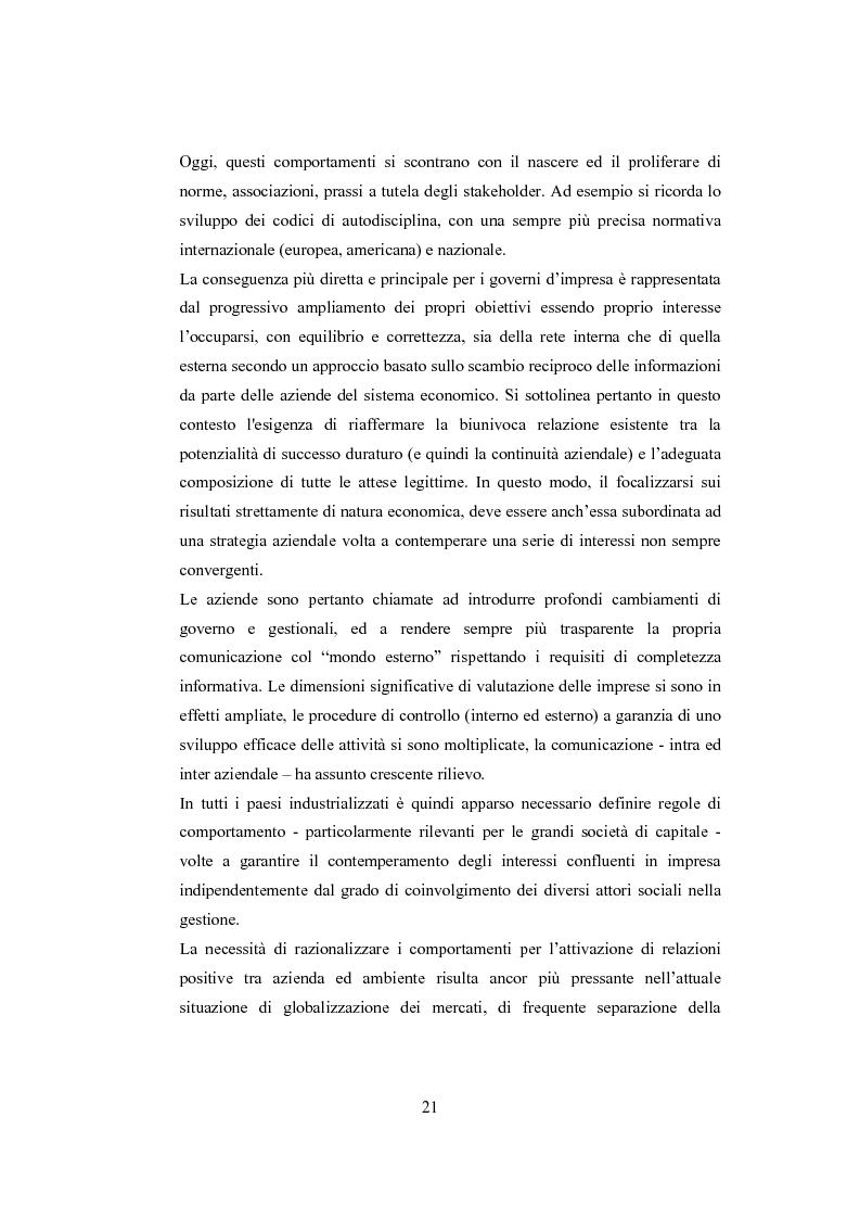 Anteprima della tesi: La comunicazione sulla Corporate Governance: analisi delle relazioni dei principali istituti di credito, Pagina 9
