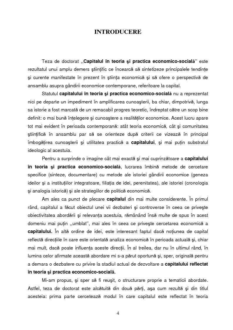 Anteprima della tesi: Capitalul in teoria si pratica economica, Pagina 1