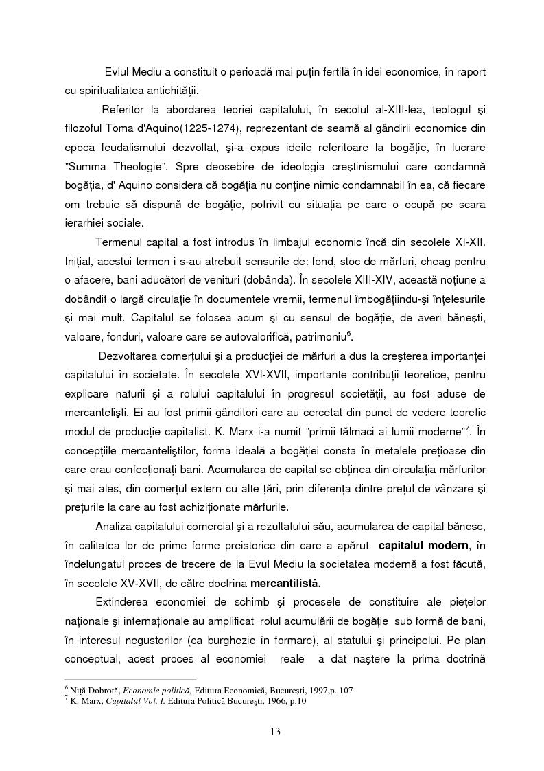 Anteprima della tesi: Capitalul in teoria si pratica economica, Pagina 10
