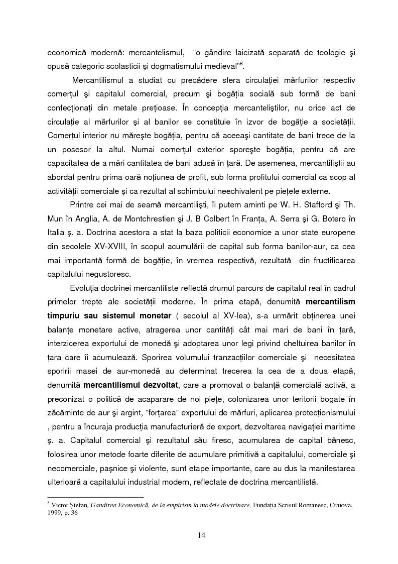 Anteprima della tesi: Capitalul in teoria si pratica economica, Pagina 11