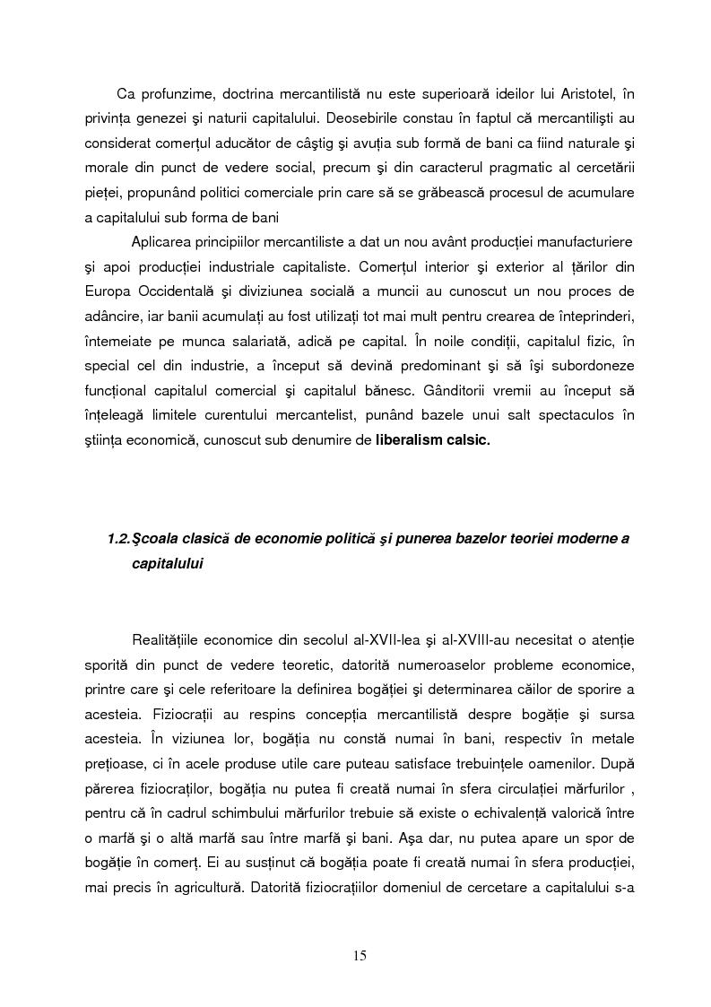 Anteprima della tesi: Capitalul in teoria si pratica economica, Pagina 12