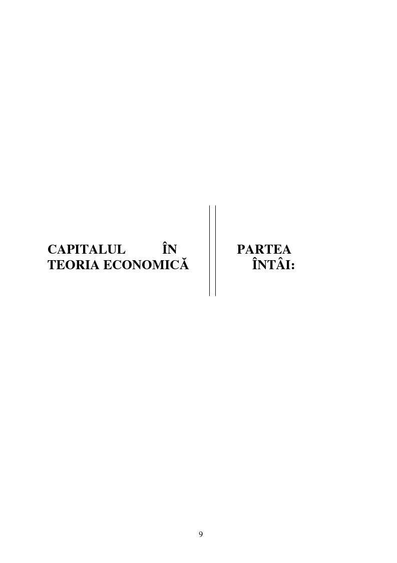 Anteprima della tesi: Capitalul in teoria si pratica economica, Pagina 6