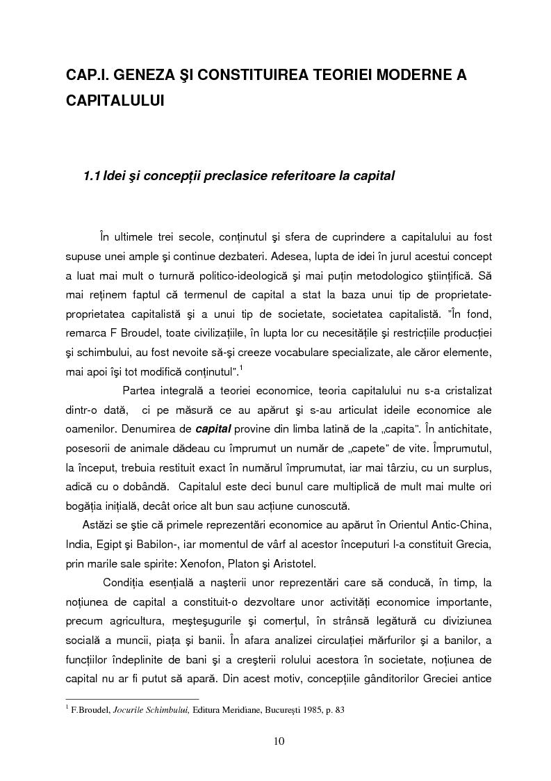 Anteprima della tesi: Capitalul in teoria si pratica economica, Pagina 7