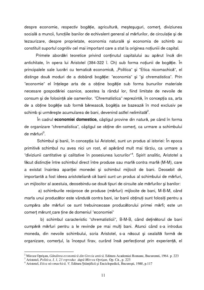 Anteprima della tesi: Capitalul in teoria si pratica economica, Pagina 8