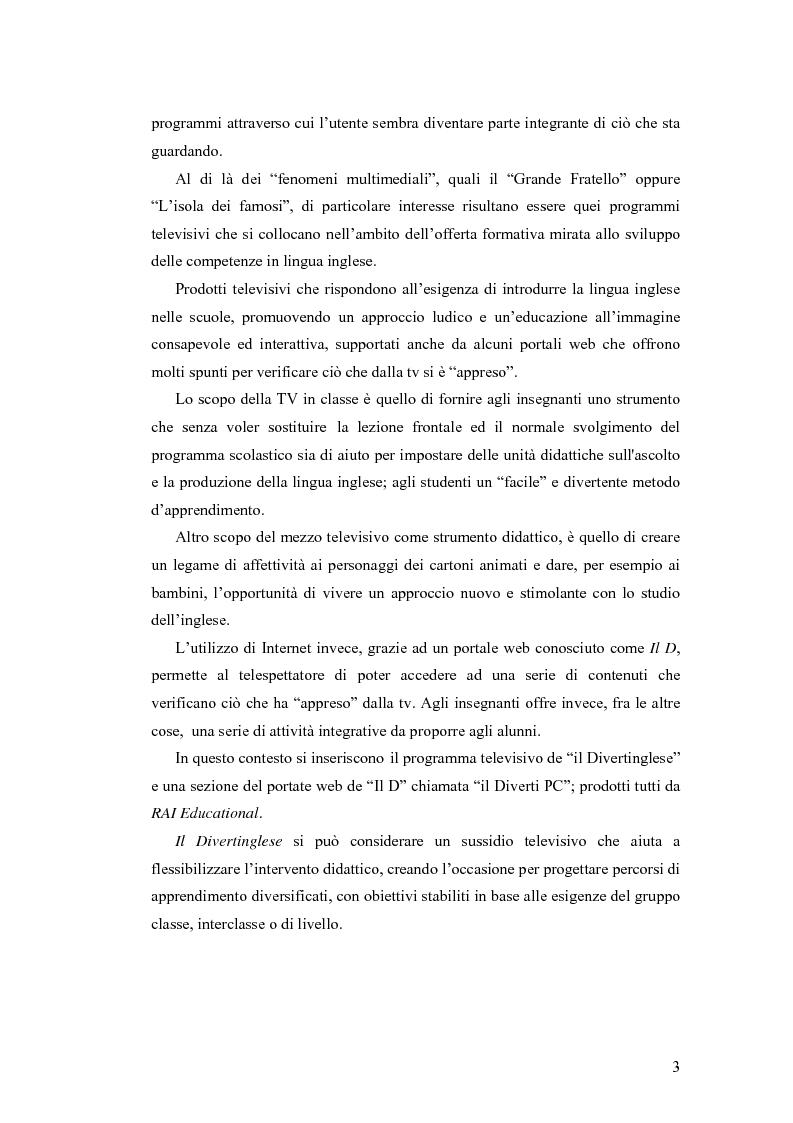 Anteprima della tesi: Il Divertinglese tra Televisione e Web, Pagina 2
