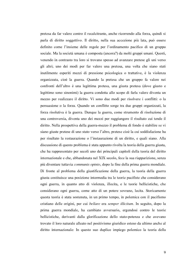 Anteprima della tesi: La Guerra Giusta: teoria e casi pratici, Pagina 4