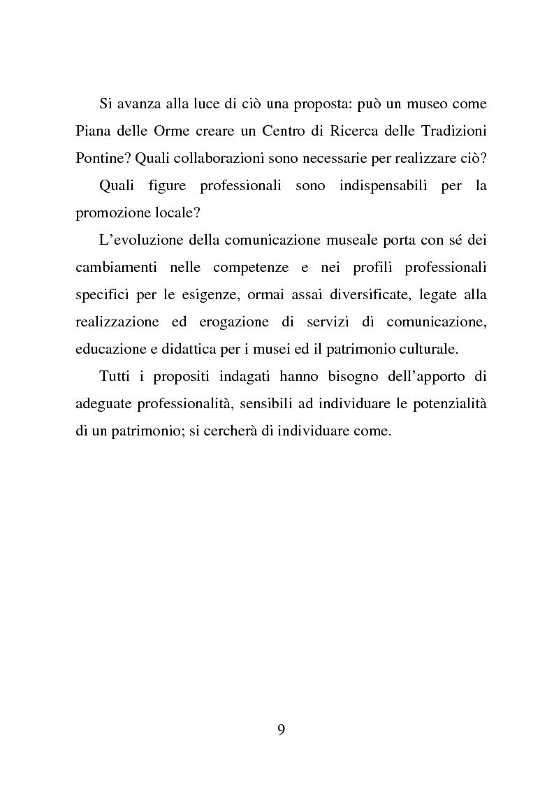 Anteprima della tesi: Piana delle Orme tra antropologia e storia: come si comunica il patrimonio, Pagina 4